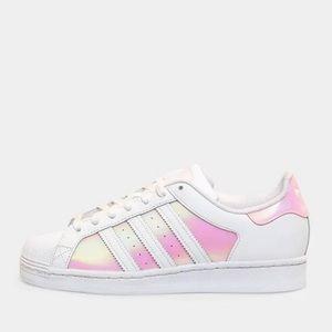 Holographic pink Adidas Superstars